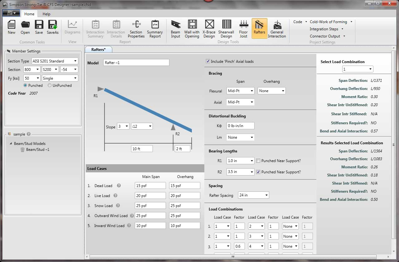CFS Designer software screenshot 2