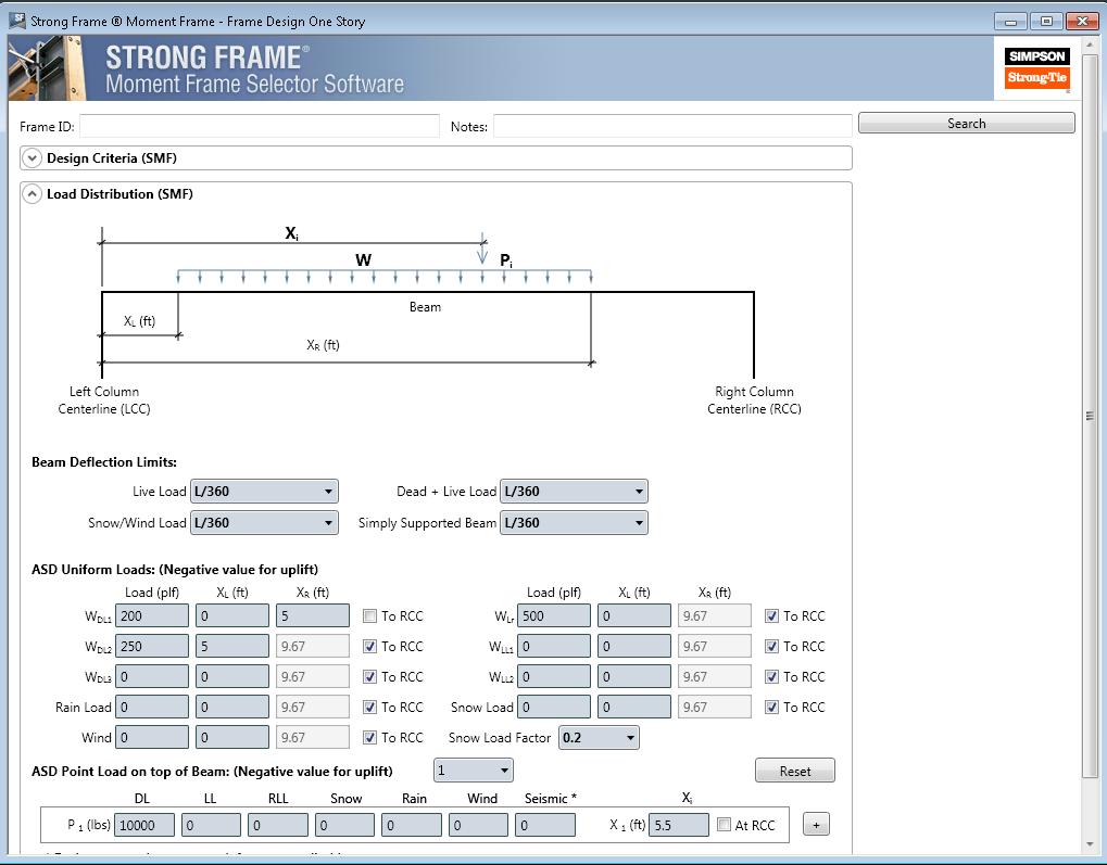 Strong Frame® Moment Frame Selector Software